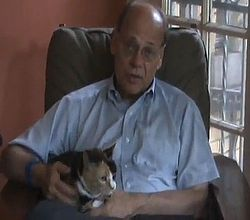 U.S. Congressman Steve Cohen and his cat Callie
